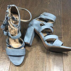 Sam Edelman Yasmina Suede Buckle Sandals Size 9.5